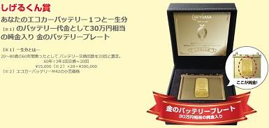 純金30万円相当