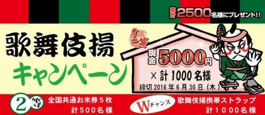 天乃屋歌舞伎揚キャンペーン