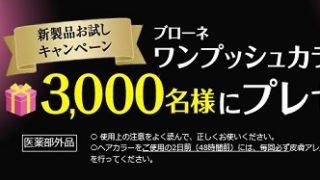 【大量当選】ブローネワンプッシュヘアカラー(白髪染め)お試しキャンペーン