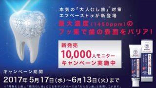 1万人モニター募集☆大人むし歯対策エフペーストα新発売キャンペーン
